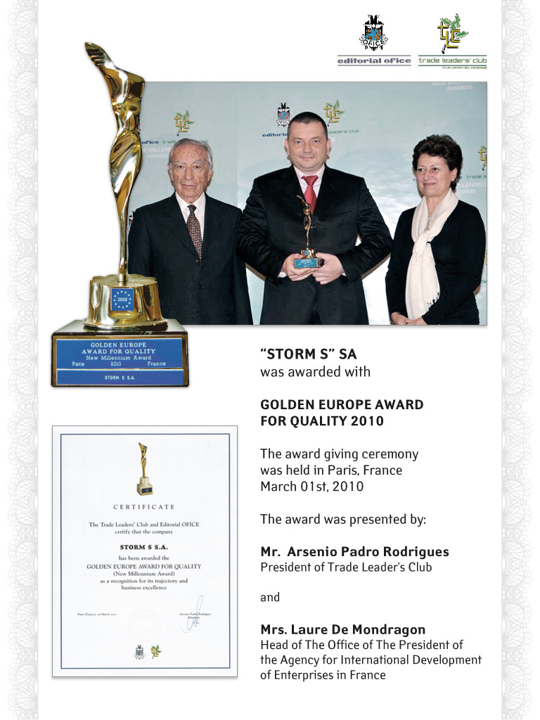 Golden Europe Award for Quality